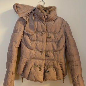 Eli Tahari women's coat w/fur collar size M